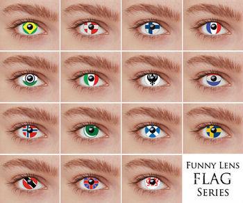 wholesale color contact lens flag lens - Contact Lenses Color Halloween