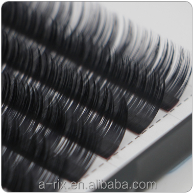 Korean material 0.03-0.07 volume soft J B C D L curl eyelash extensions with customized packaging