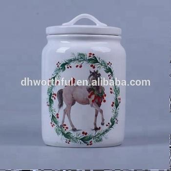 Whole Custom Plain White Ceramic Cookie Jar With Lids