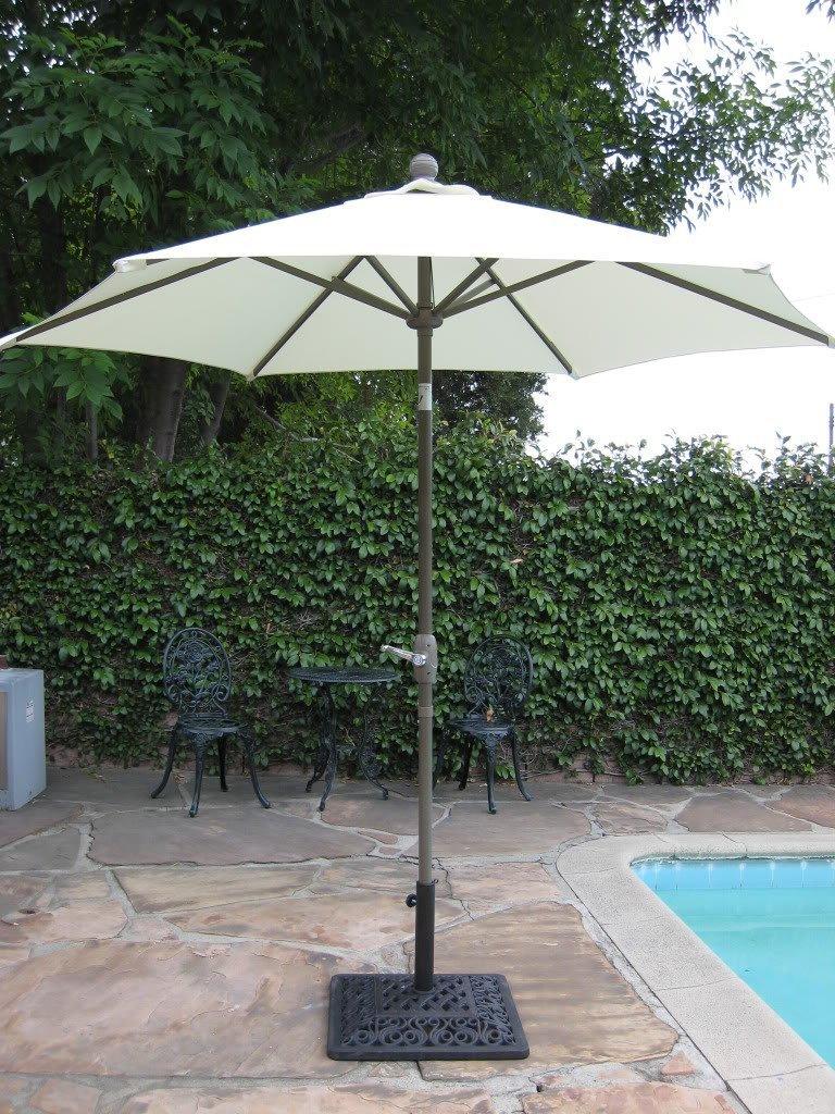 Get Quotations · 8u0027 Brand New Outdoor Garden Patio Aluminum Crank Tilt Umbrella  Beige CBM1290