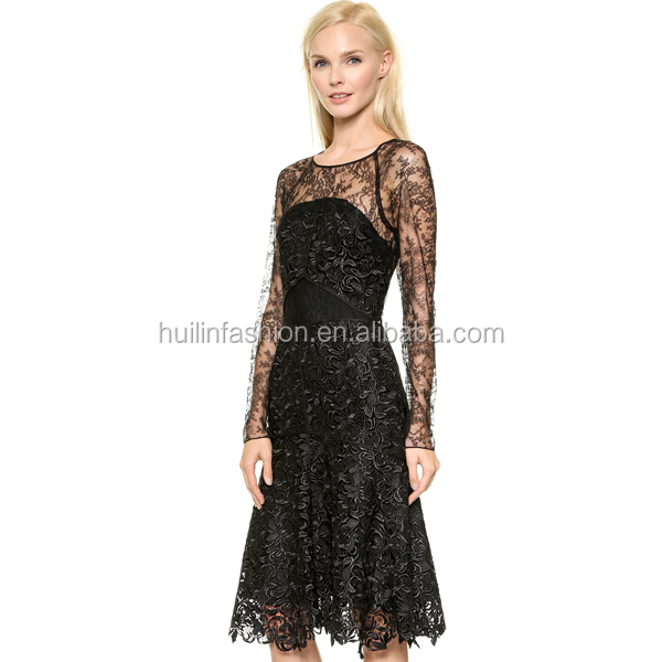 New Design Short Black Lace Party Dress Formal Evening Lace Dress ...