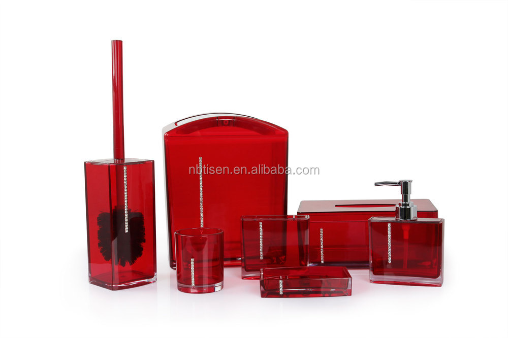 red bathroom accessories sets. Acrylic Plastic Crystal Bathroom Accessories Set  TS8002 plastic ts8002 Buy