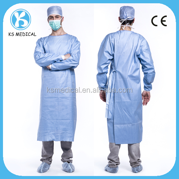 Reinforced sterile disposable surgical gown hospital uniforms