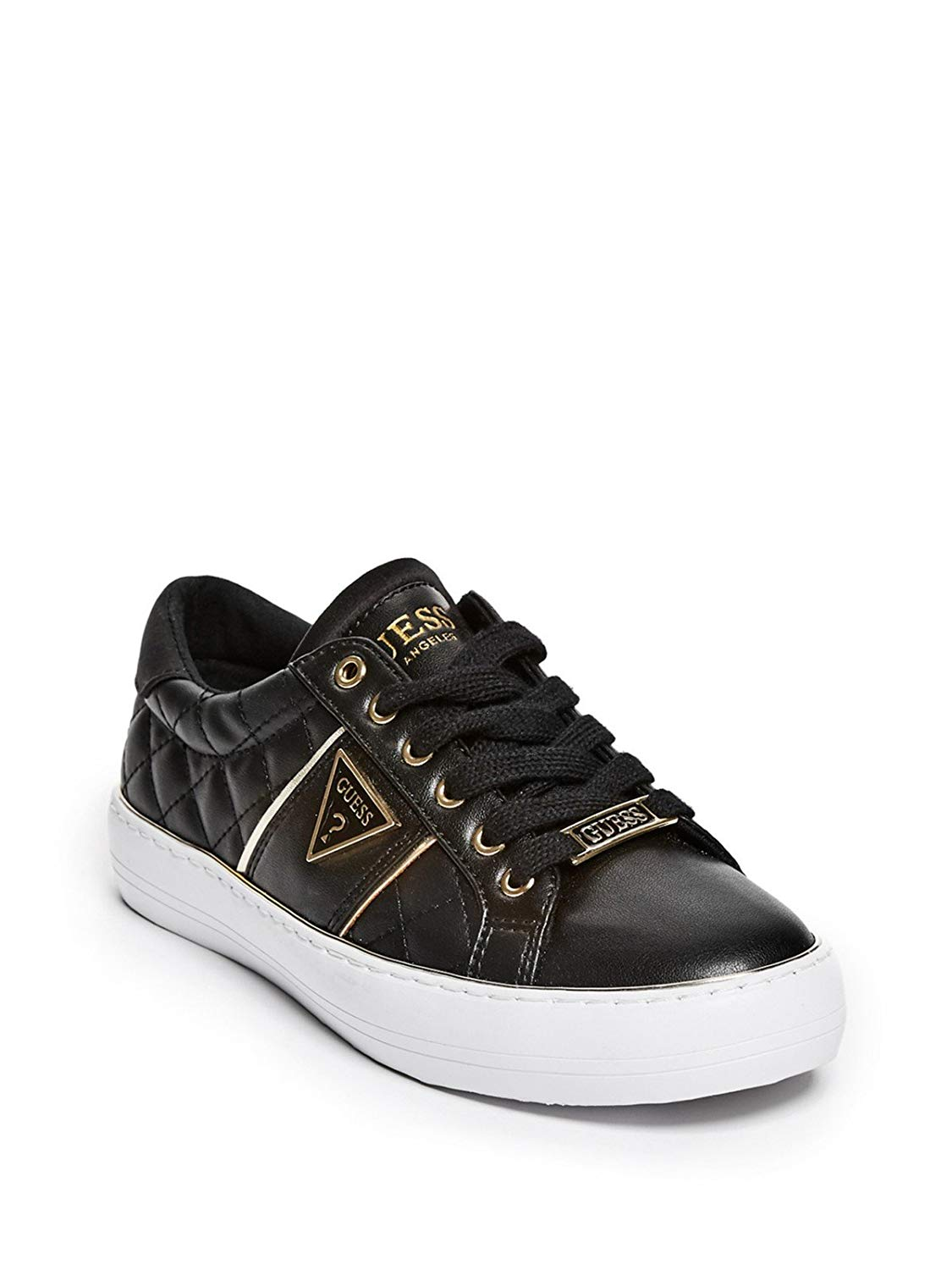 57e6777f57fe5 Get Quotations · GUESS Factory Women s Gilda Quilted Leather Low-Top  Sneakers