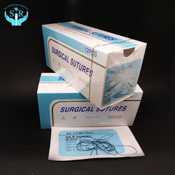 Surgical single use Disposable Hospital black braided silk surgical suture