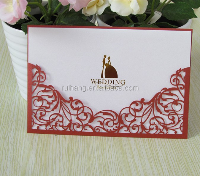 Hot Power Red 2015 New Design Handmade Wedding Invitation Cards ...