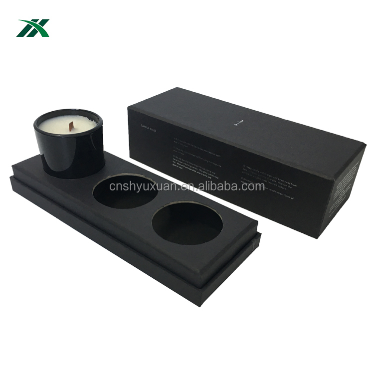 High quality candle glass jars packaging boxes