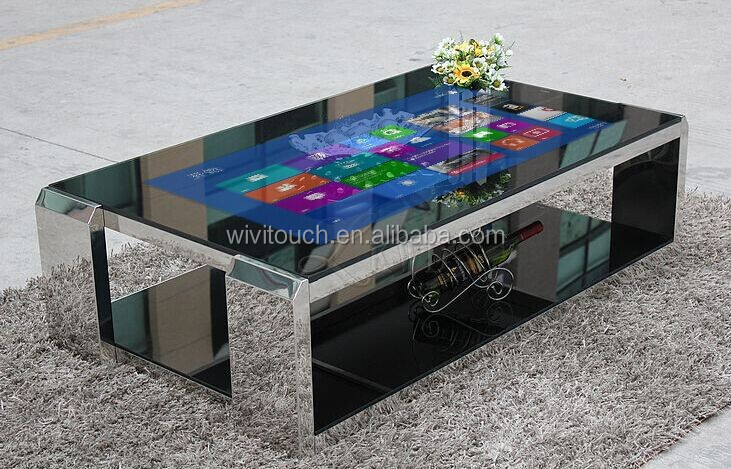 Interactive Tea / Game / Bar / Coffee All In One Touch Table With IR Touch