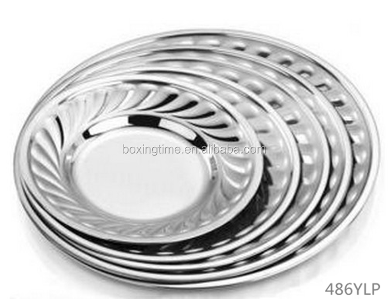 Wholesale Stainless Steel Dinner Plate & Dishes Silver Food ...