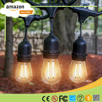 Cafe patio hanging outdoor waterproof globe led string lights with cafe patio hanging outdoor waterproof globe led string lights with metal shades ilamptech aloadofball Image collections