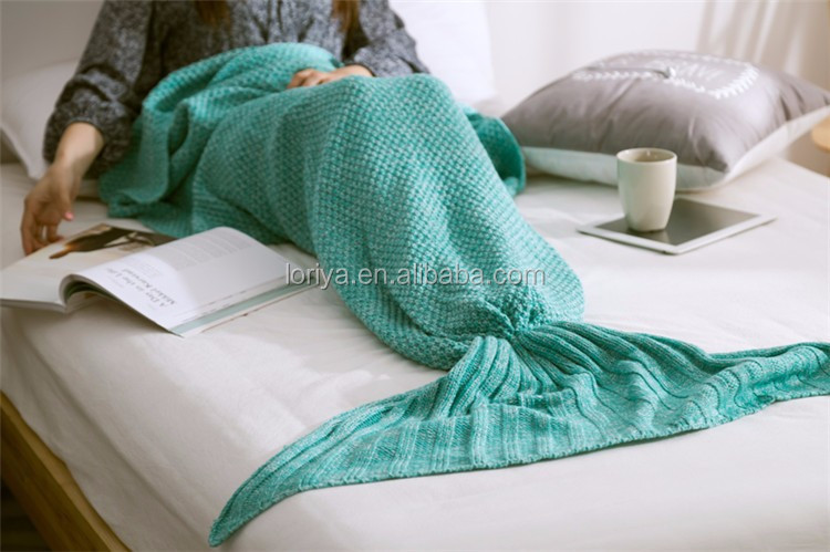 Handmade crothch Mermaid Tail Blanket , Soft Material Perfect Little Mermaid Cute birthday Gift Must have for girlfriend