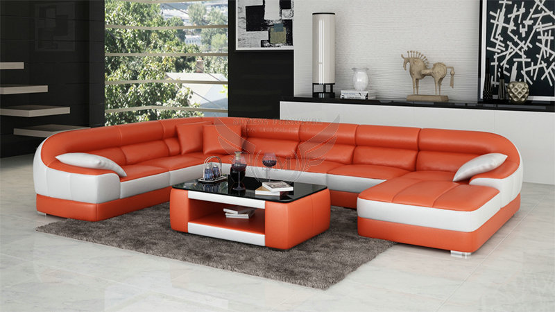 Fashionable Round Shape Modern New Design Corner Sofa