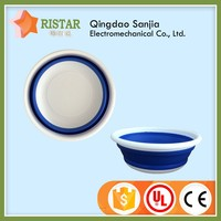 Hot sale injection mould food grade pp material plastic collapsible basket for kitchenware