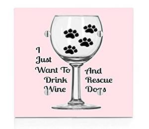 Drink Wine and Rescue Dogs Print Double Blank Electrical Switch Plate