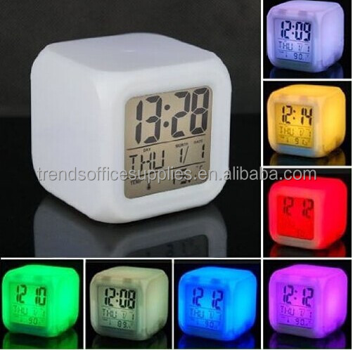 Mood led Cube Clock with Musical Alarm/frozen led cube alarm clock