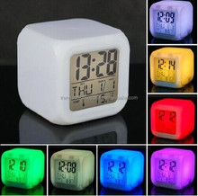 Mood led Cube Clock with Musical Alarm/frozen led cube digital alarm clock