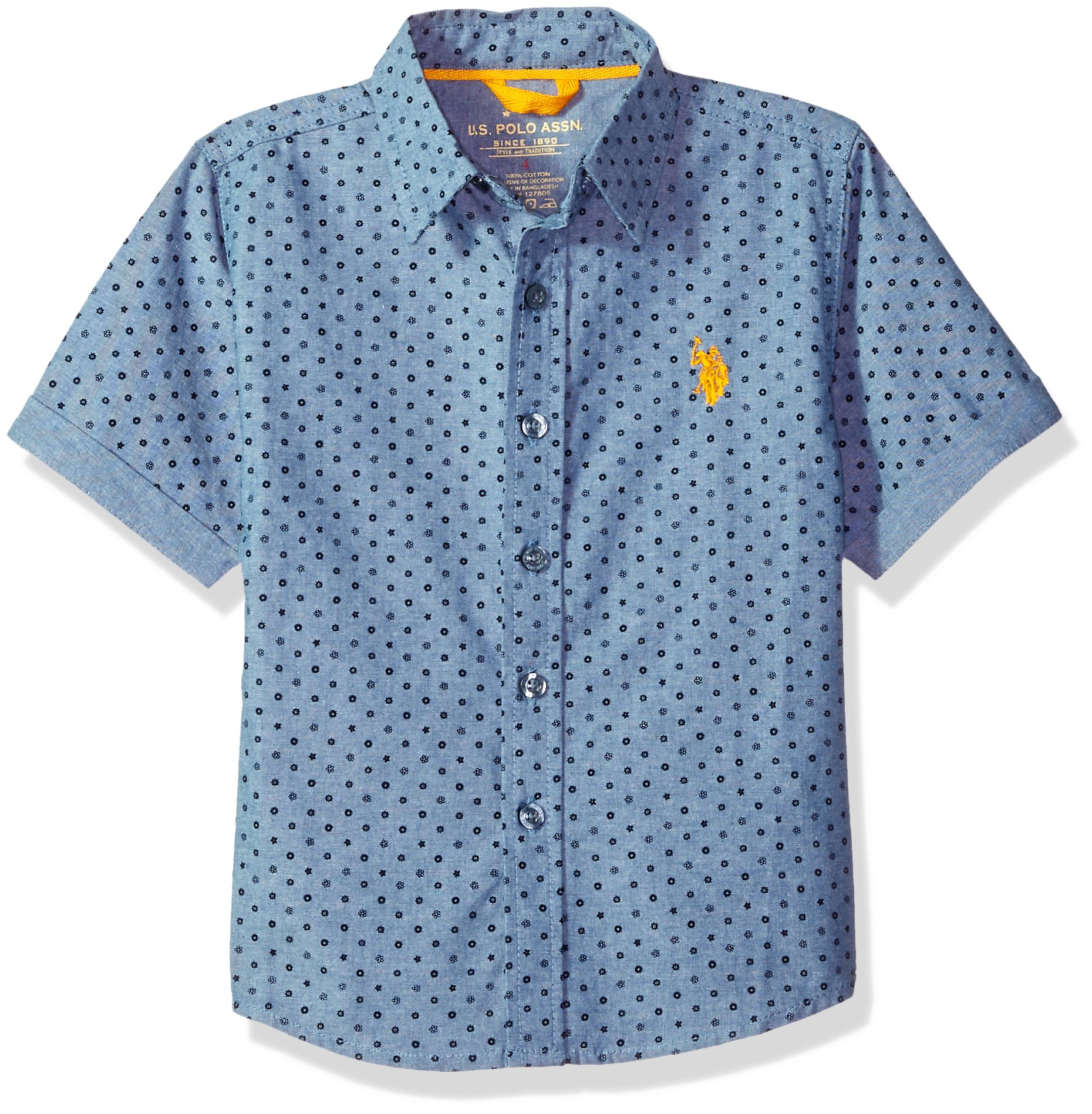 U.S. Polo Assn. Boys' Short Sleeve Fancy Sport Shirt