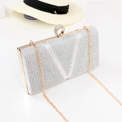 Designer rhinestone crystal party women evening clutch bag