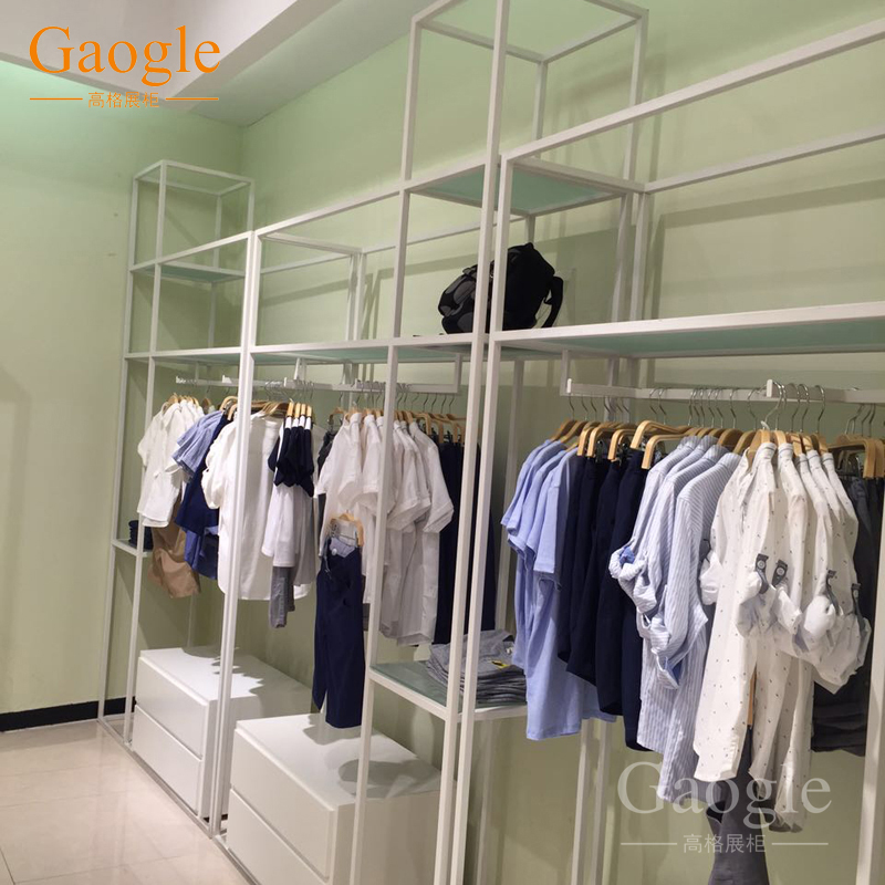 e58bab82ece guangzhou factory custom clothing store furniture clothes display rack  stainless steel furniture garment shop interior design