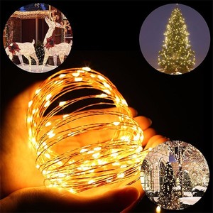 10ft 30 Micro Starry LED String Lights, Waterproof Fairy Copper Wire Lights, Moon Lights Battery Operated for DIY Wedding, Part