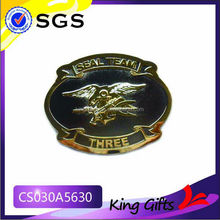 Custom seal team gold challenge coin with navy logo