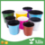 "Bulk High Impact Plastic Flower Pot, 6"" Diameter For Garden Nursery"