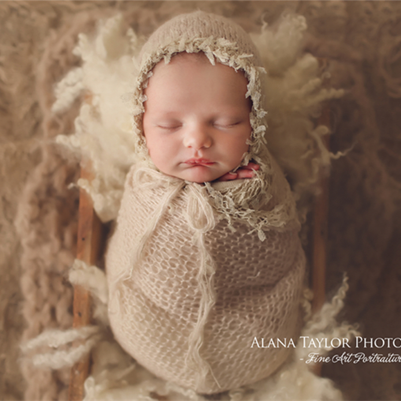 Baby Photography Props Blanket Newborn Photo Shoot Outfits Infant Photos Wrap