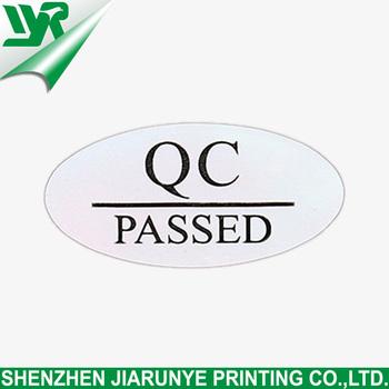 Jry cheap custom qc pass stickers