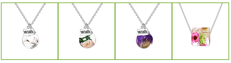 Botanical Jewelry Real Flower Necklace Gifts for Women Resin Natural Flower Jewelry Remembrance Gift