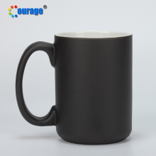 Courage 15oz Sublimation color changing black magic mugs