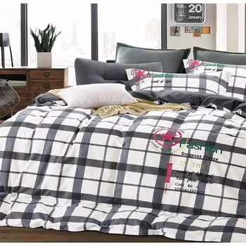 European Style Bedding Sets Modern Cotton Embroidery King Duvet Cover Set  Bird Print Bed Sheets