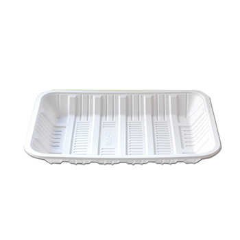 "9"" biodegradable disposable tray  corn starch tableware"