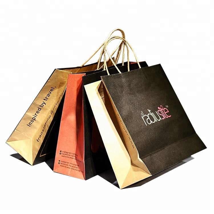 Cheap Wholesale Custom Printed ECO Friendly Brown Paper Kraft Bag