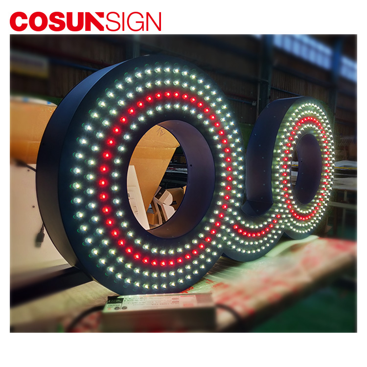 Custom Hanging Light Optical Shop Advertising Aluminum Led Letter Sign Board