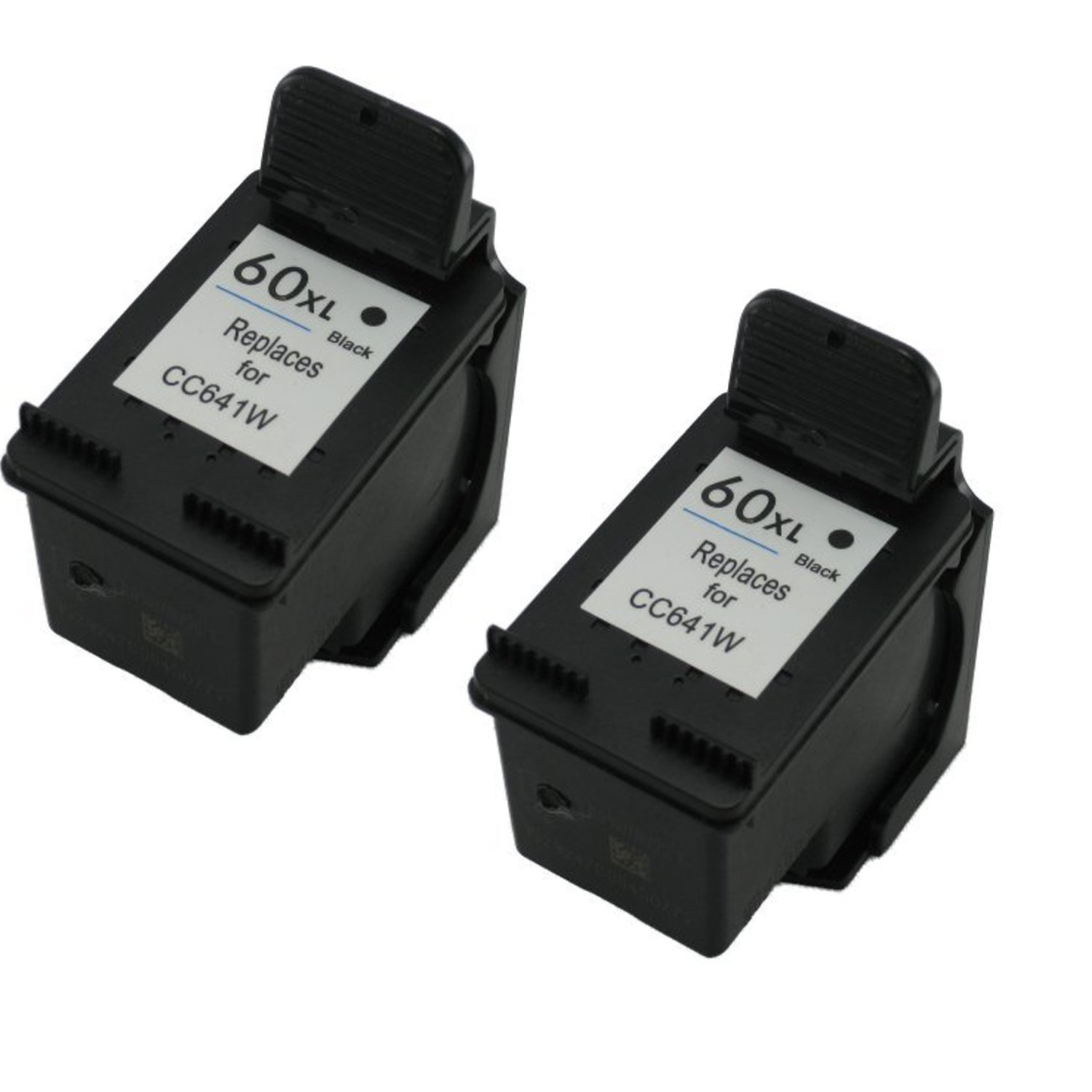 Remanufactured Ink Cartridge Replacement for HP 60xl CC641WN (2 Black 2 Pack)