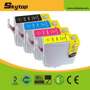 New compatible ink cartridge for EPSON T0761 T0762 T0763 T0764 with dye ink 8ml high quality for EPSON T0761 ink