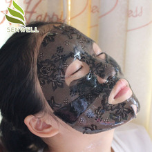 wholesale pearl whitening collagen hydro gel lace face mask
