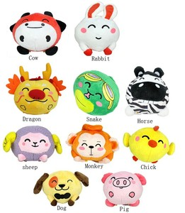ICTI factory bouncing Plush toys plush ball toys gift for children