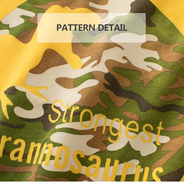 Vendita calda di stile di estate dei capretti del ragazzo più colori t-shirt con una bella dinosaur stampa