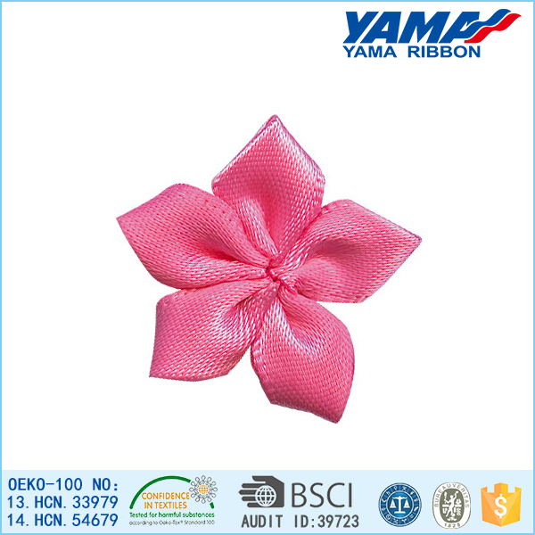 No deformation festival decoration satin ribbon flower men's hair accessories
