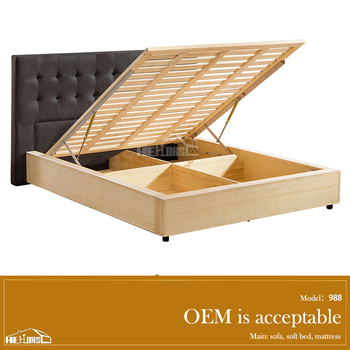 High Quality Hydraulic Lift Up Storage Bed Double With 988