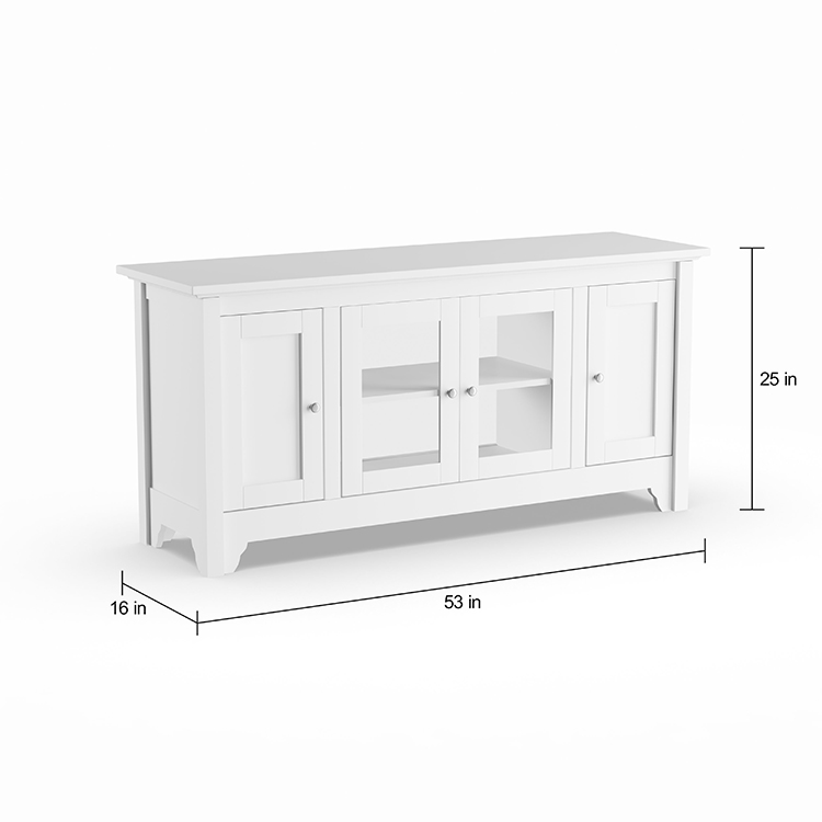 Customizable modern TV stand wooden furniture glass TV cabinet furniture
