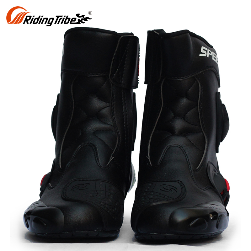 Light Weight Waterproof Motocross Gear Zipper Hiking Street Bike Riding Motorcycle Boots Sale