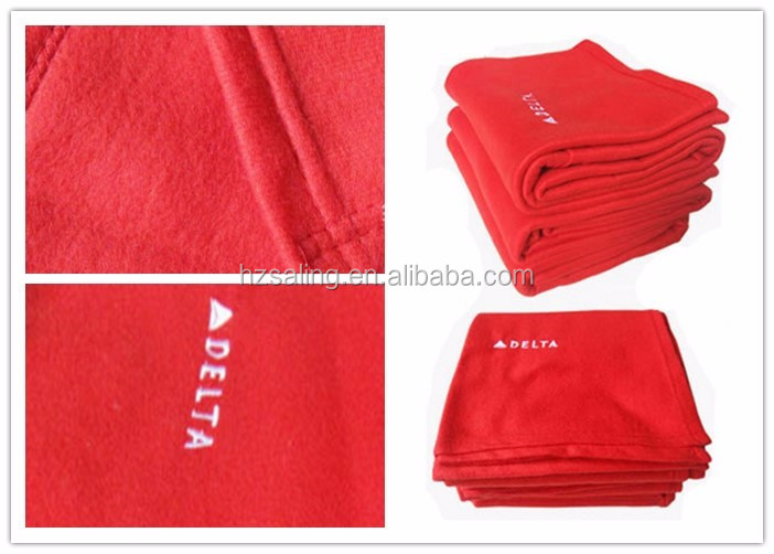 100% Flame Retardant Aircraft Blankets with Embroidered Logo Travel Blanket for Plane