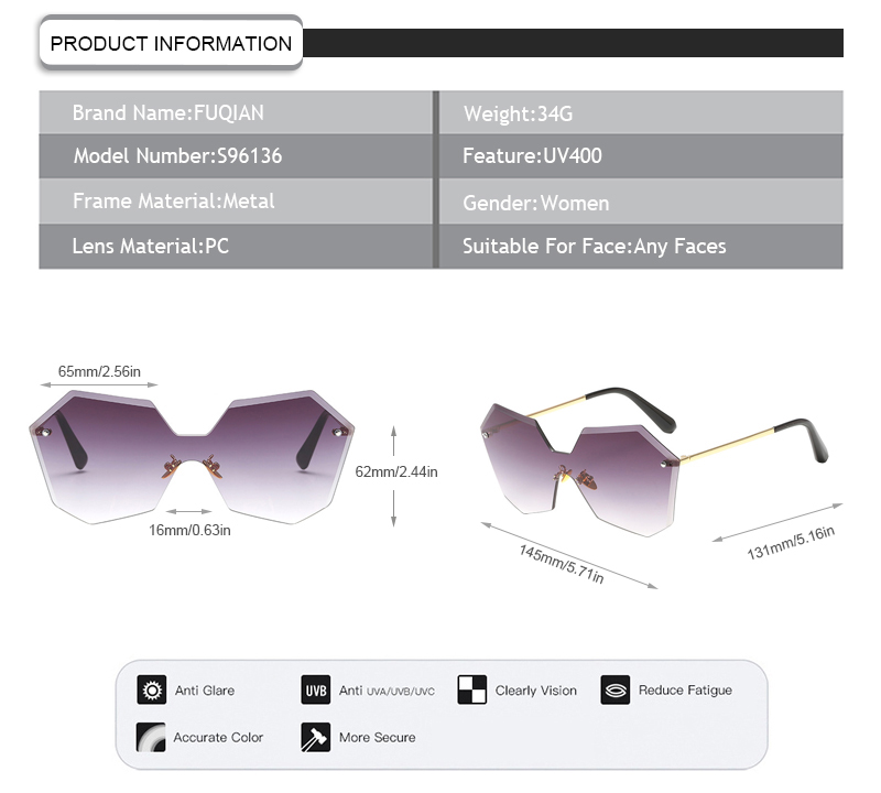 Fuqian women designer sunglasses outlet Suppliers for racing-7
