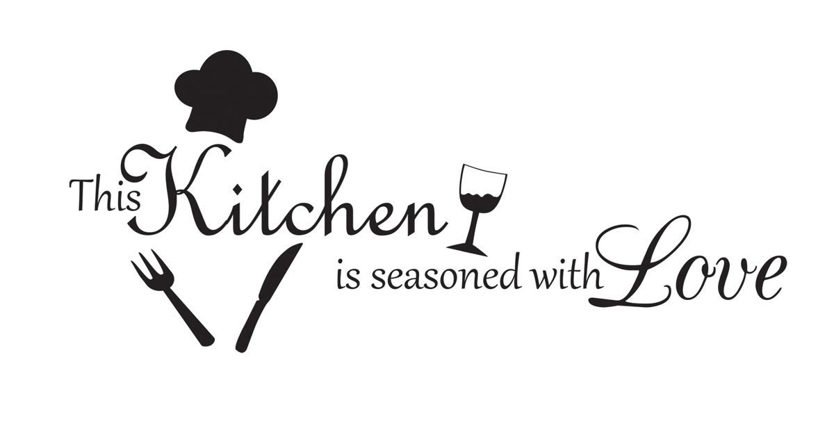 Get Quotations · This Kitchen Is Seasoned With Love Vinyl Wall Decal Quotes  Wall Stickers Kitchen Decals Home Decor