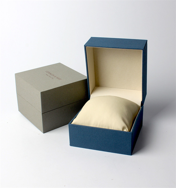 Custom Blue Cardboard Watch Personal Packing Gift Box