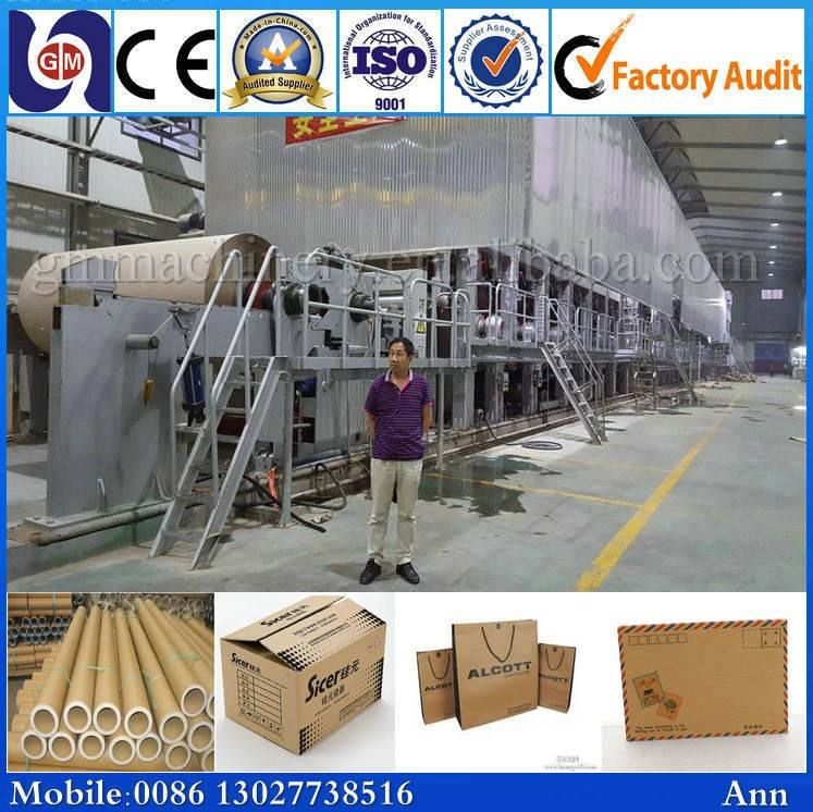 High Production caton paper making machine, paper mill craft making machine
