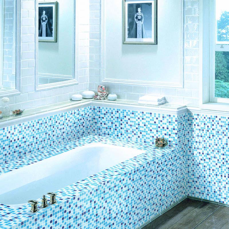 Piastrelle per doccia azzurro all 39 ingrosso acquista online - Mosaico azzurro bagno ...