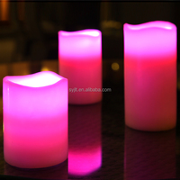 Colorful Electronic Flameless LED Candle Light,Color Changing Remote Led Candle